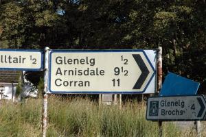 road from shiel bridge to corran